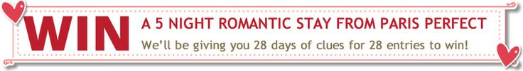 Win a 5 Night Romantic Paris Stay from Paris Perfect