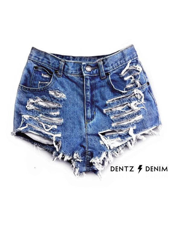high-waisted-denim-shorts-shredded