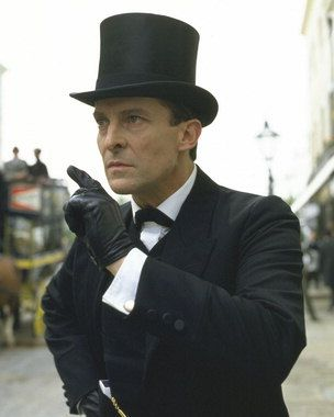 Jeremy Brett as Sherlock. Brett is the reason I avoided BBC's Sherlock for so long. Now I love them both. I highly recommend the Granada TV series, starring Jeremy Brett. It's on Netflix.