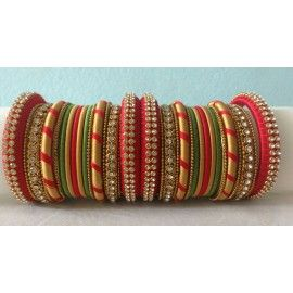 Bangle set made of silk thread-Bridal bangle set-02