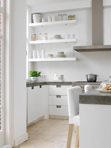 589 kuratierte Cook-Ideen von ericagp Inseln, offene Regale und - arbeitsplatte küche grau