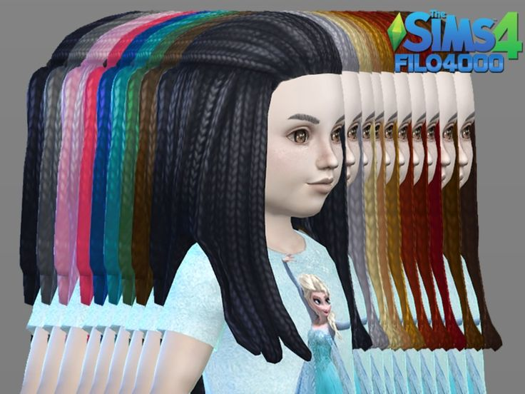Sims 4 Hairs The Resource Toddler Hair Canerows Recolored By
