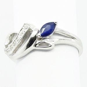PIerścionek EFFIE ; Srebrny pierścionek z szafirem