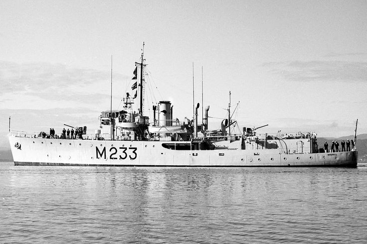 HMNZS Inverell, a Bathurst class Corvette built by Mort's Dock & Engineering Co at Balmain, New South Wales & commissioned as HMAS Inverell on 17/09/42. Served throughout waroperating firstly from Australia & later from Mortai Island(part of the Molucca group, Indonesia). Place in reserve in '46 she was transferred to RNZN on 05/03/52. Afte a refit was placed immediately in reserve but in '65 refitted as a training & fisheries protection vessel. Served until 19/08/76 & scrapped '77.