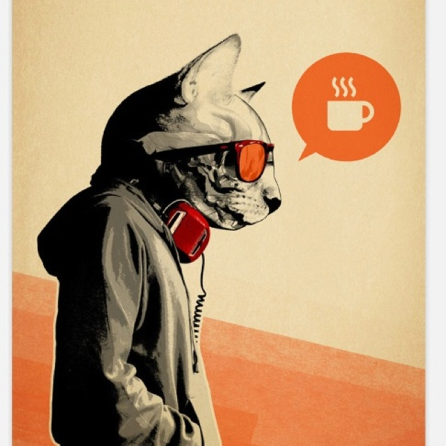 Sold on fab.comGraphics Art, Cool Cat, Rhys Owens, 3D Character, Wall Murals, Hidden Moving, Art Prints, Character Design, Mornings