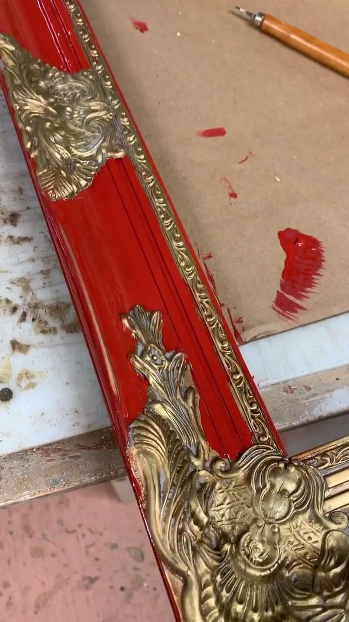 How we paint our Mirrors – HallstromHome.com