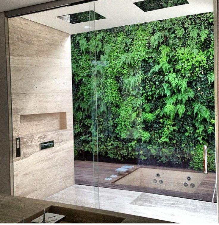 love the idea of this semi outdoor shower my home