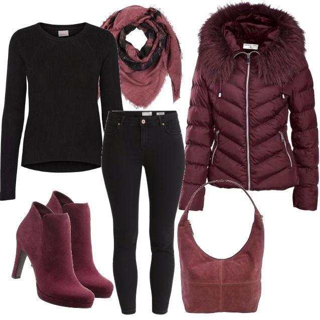 red winter chic outfit Outfit für Damen zum Nachshoppen auf Stylaholic