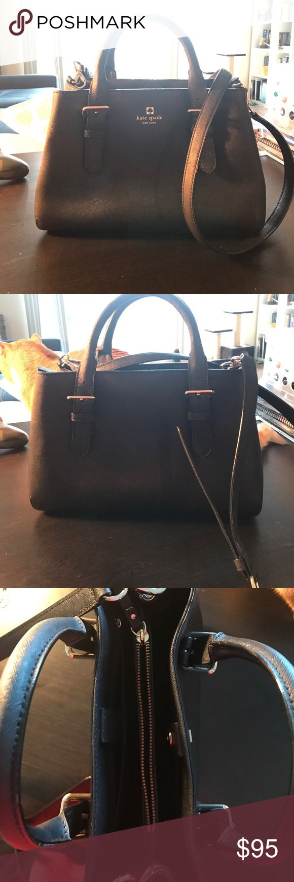 Kate Spade Black Crossover Purse Authentic Kate Spade black crossover purse. Inside: middle zipper pocket, side zipper pocket, and three other pockets. Magnetic closure. Only used a handful of times - still in like new condition! kate spade Bags Crossbody Bags