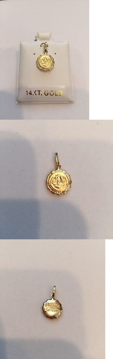 Necklaces and Pendants 84607: 14K Yellow Gold Baptism Pendant BUY IT NOW ONLY: $59.0
