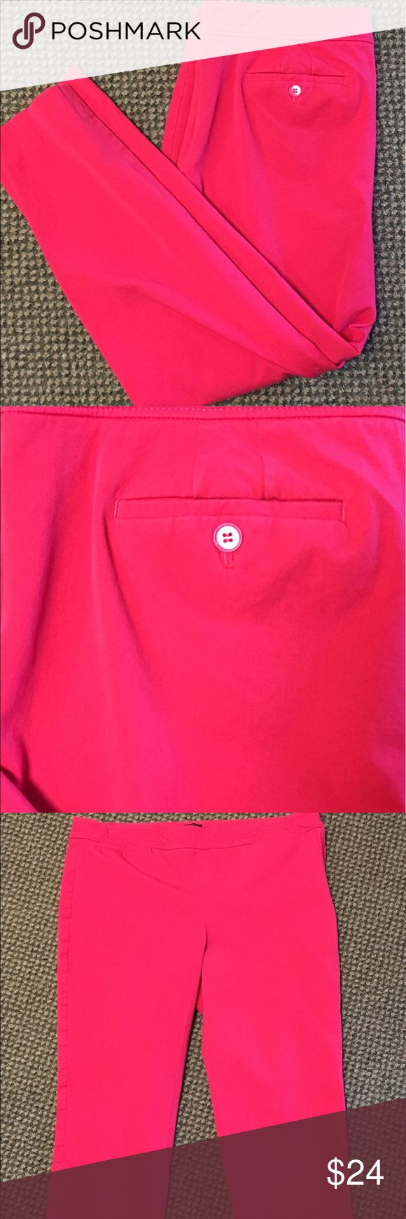 """Talbots Chatham Stretch Twill Side Zip Slim Capris """"Chatham"""" style casual pants. Stretch cotton. Side zipper. Slim fit. Talbots Pants Skinny"""