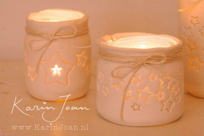 star jar candle holders