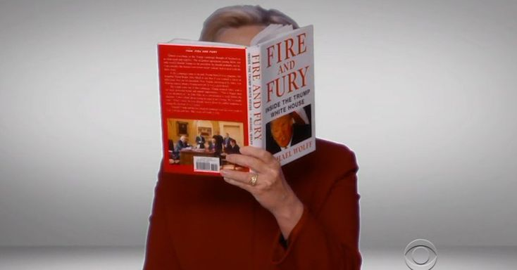 Hillary Clinton Reads 'Fire and Fury' at the Grammys    Mrs. Clinton read an excerpt from the tell-all book about the Trump administration as part of a sketch during the Grammy Awards broadcast.
