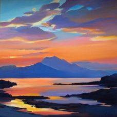 """Something to save up for £250 Pam Carter :: Star of the Morning 20""""x20"""""""