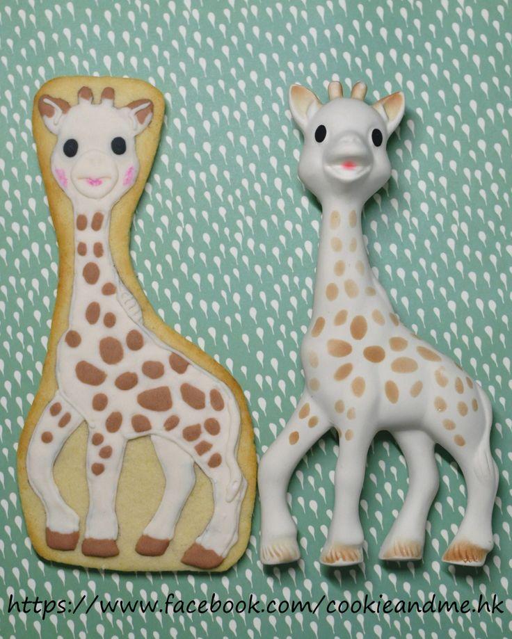 Sophie the Giraffe cookies