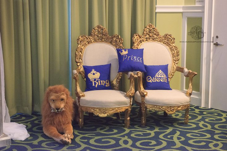 Ivory and Gold King & Queen Chairs. Royal themed baby ...