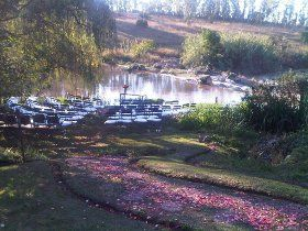 Delightful setting, romantic touches, good food.  Near Lanseria airport.  Travel on R512