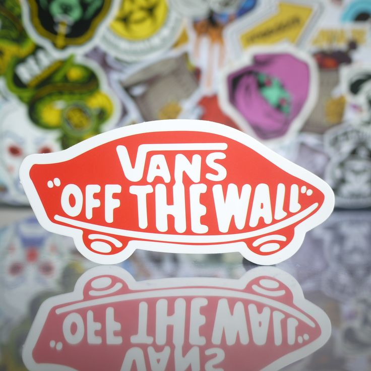 vans off the wall classic logo sticker logo sticker on wall logo decal id=46124