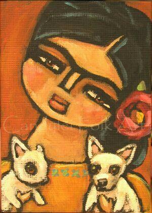 Frida Kahlo-Chihuahua