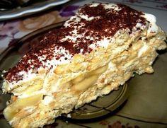 Торт без выпечки с бананами