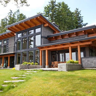 126 Best Images About Modern House With Slope Roof On