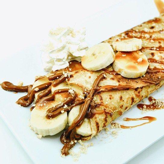 Dulce banana! Crepe con dulce de leche y plátano #crepe #crepelover #bcn #bcnfoodie #foodiesbcn #nutella