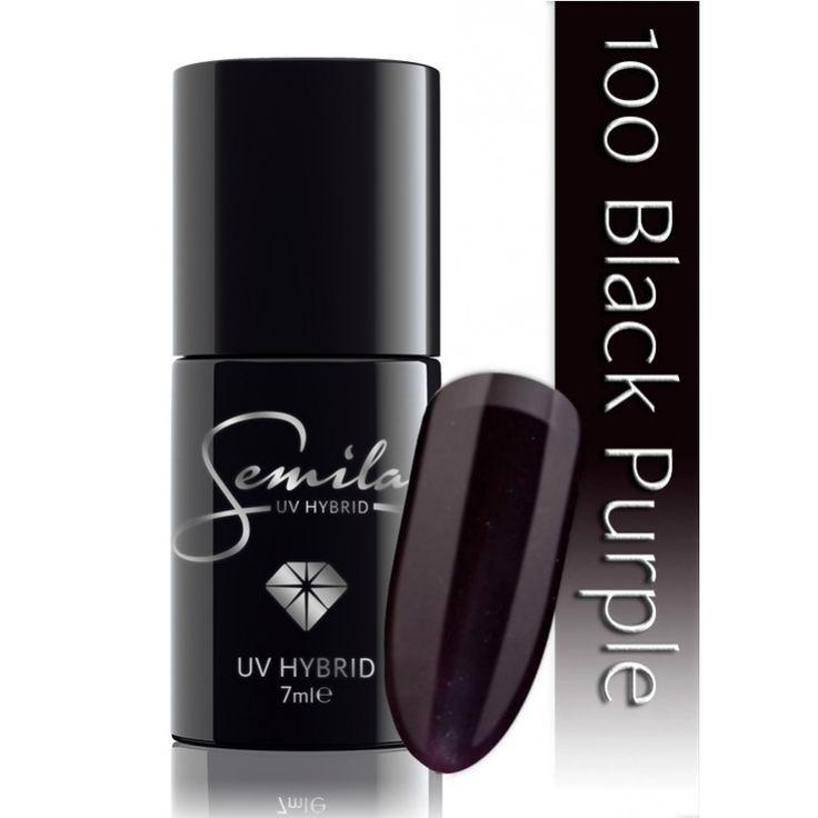 Ημιμόνιμο μανό Semilac - 100 Black Purple 7ml - Semilac | Προϊόντα Μανικιούρ - Πεντικιούρ Semilac & Ημιμόνιμα.