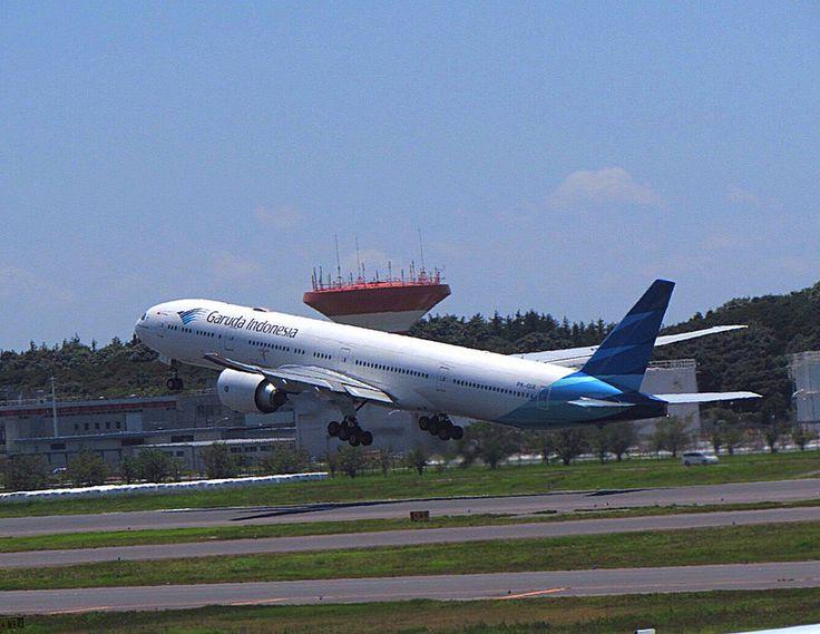 Garuda Indonesia Boeing 777-300 After Takeoff from Tokyo Narita