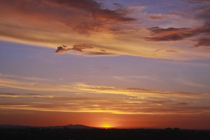 Atardecer en el desierto de Atacama. Foto de Patricio Rodríguez.