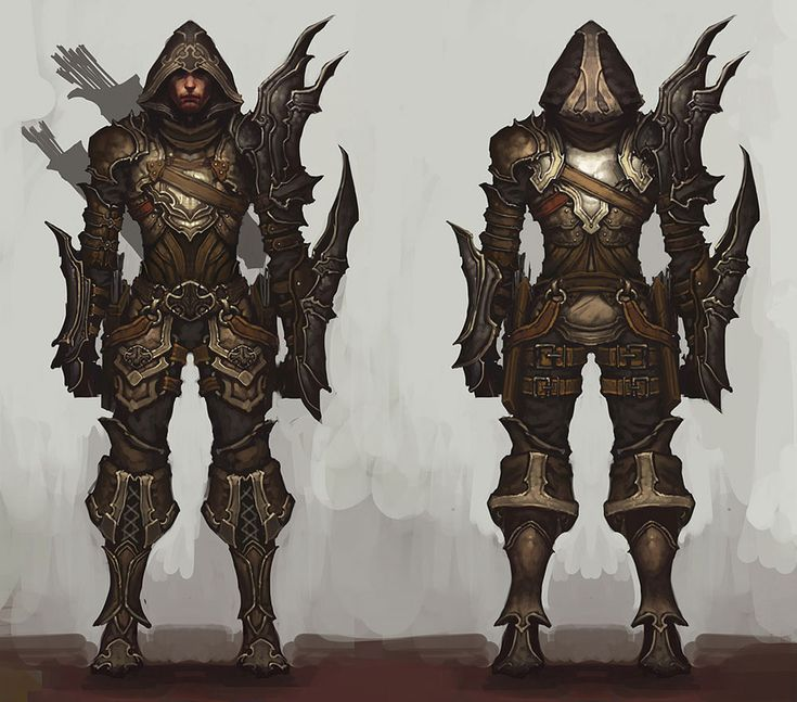 Demon Hunter Male - Pictures & Characters Art - Diablo III