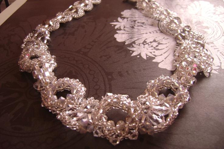 Swarovski and Asian crystal wedding necklace!!! www.tiffydesigns.com #wedding #bridal #necklace #Swarovski #crystal #jewelry