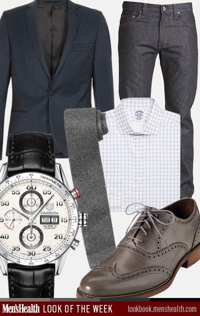 37bcea9426ab What do YOU wear to work  Blazer  TopmanTie  Club MonacoDress shirt  Brooks