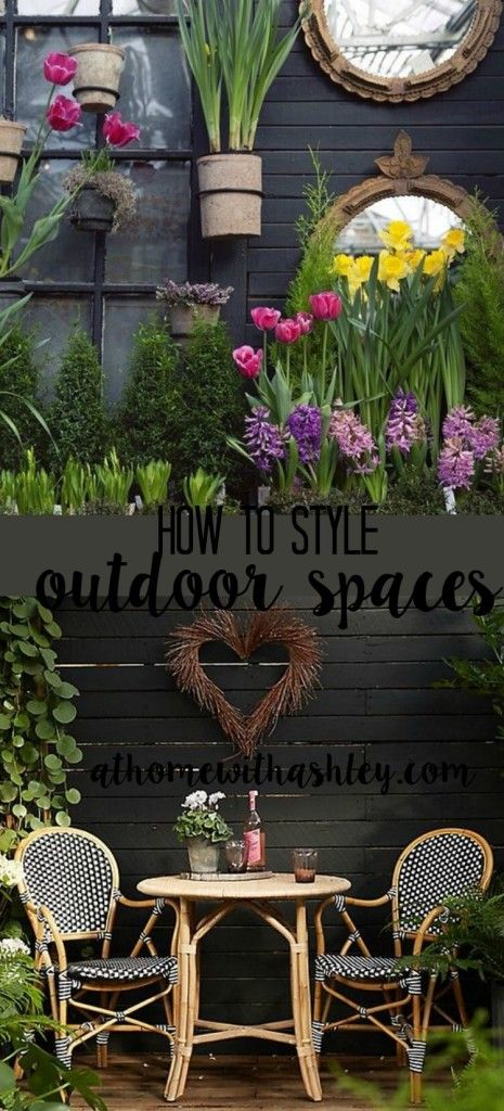 How to Style your Outdoor Space - at home with Ashley