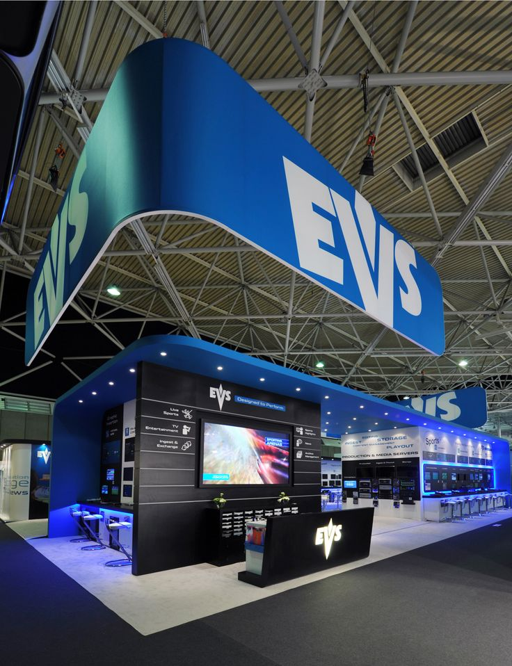 Stunning exhibition stand graphics by Mustard Solutions for EVS, www.mustardsolutions.co.uk