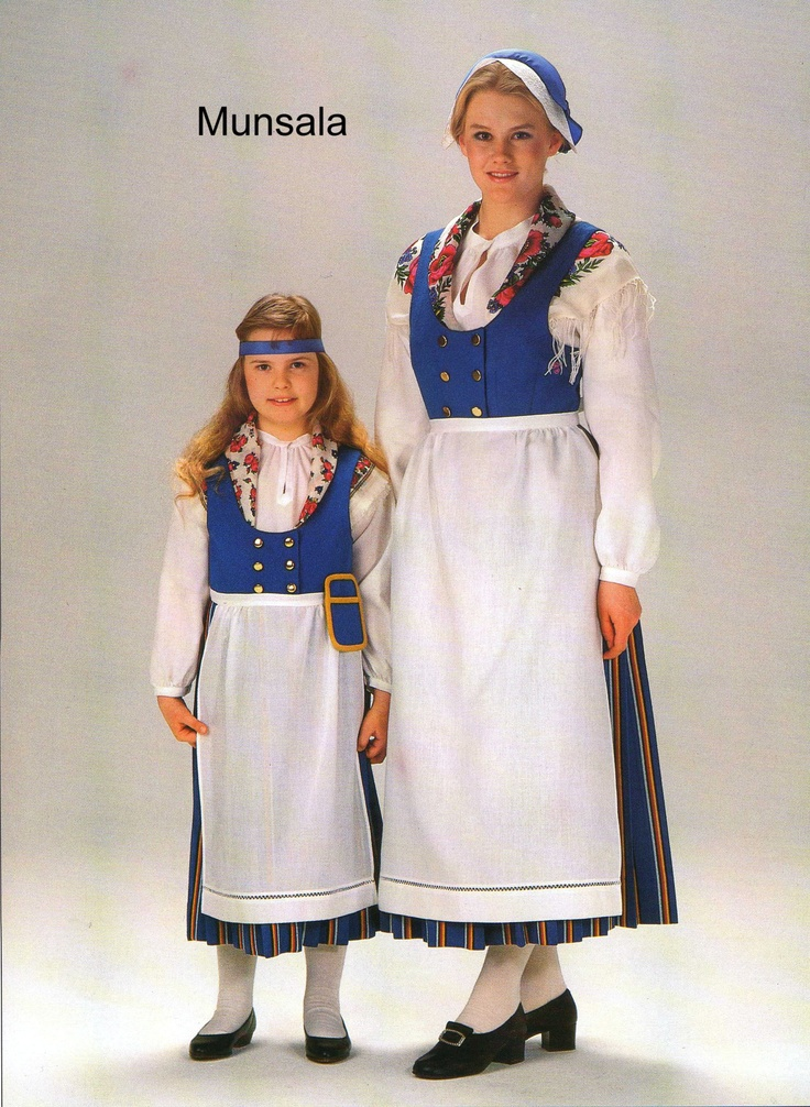 A national dress from Munsala Finland.