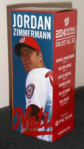 Jordan Zimmermann 2014 Bobblehead Nodder Washington Nationals Pitcher Baseball Nats Bobble Head NIB $25