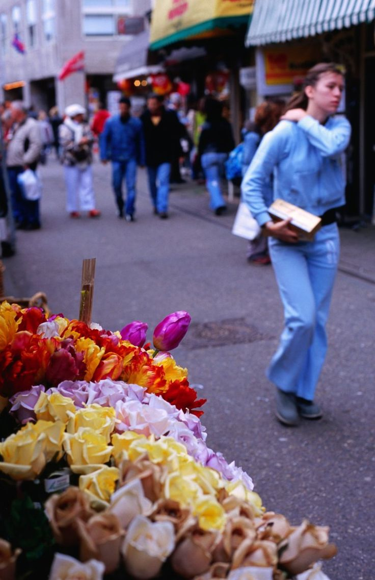 Bloemenmarkt | floating flower market | Since 1860 this famous flower market has been located at the spot where nurserymen and women, having sailed up the Amstel from their...