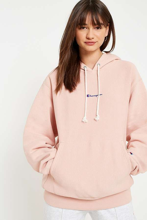Slide View  1  Champion Dusty Rose Logo Hoodie 616e73da95