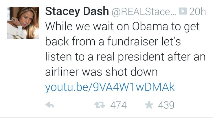 Stacey Dash Keeps Her Paid FOX Internship Gig Going With A Twitter ...