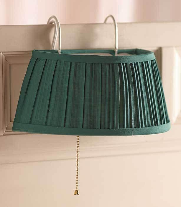 Bedroom Lamp Hang On Headboard Hunter Green Reading In Bed