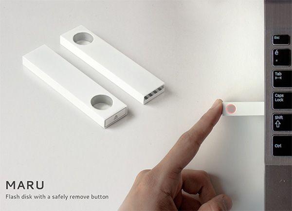 Maru Flash Disk: usb stick με δικό του eject κουμπί