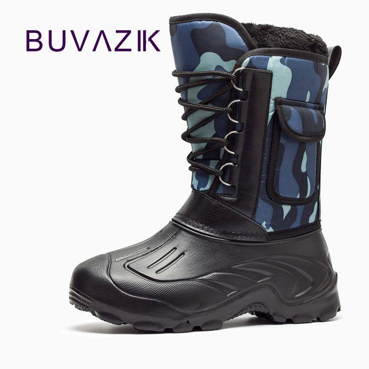 2017 men's waterproof snow boots Non-slip rubber hard-wearing Soles Detachable Plus cotton warm winter men shoes szie 41-46 #Affiliate