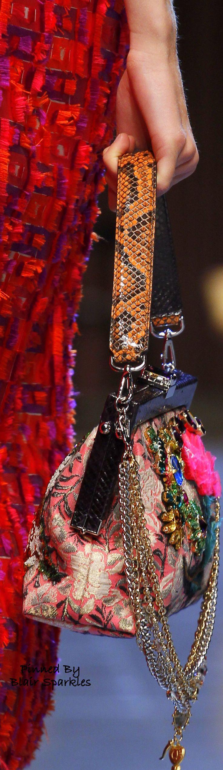 SPRING RTW 2016 (MFW) Dolce & Gabbana { Details } ~ ♕♚εїз   BLAIR SPARKLES  