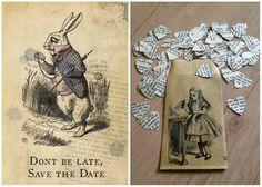 dettagli matrimonio - tema Alice nel paese delle meraviglie
