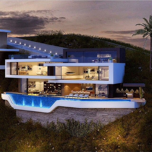 8626 best modern architecture images on pinterest modern for Luxury home plans with pools