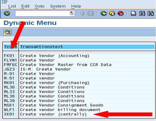 REAL TIME SAP FICO SCENARIOS: Identify the TRANSACTION CODE based on the Short descriptions