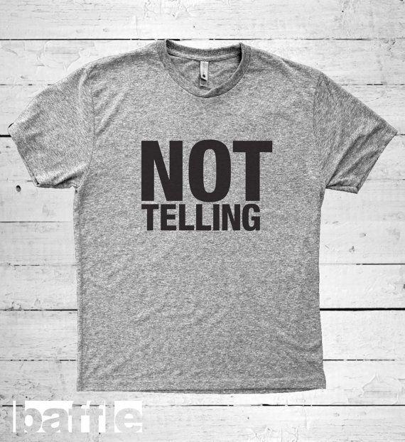 Baffle Tees / Not Telling Men's Tri-Blend by BaffleTeesShop