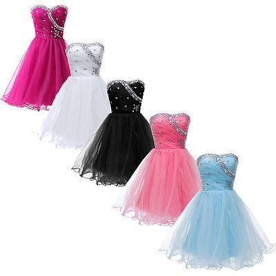 CHEAP Mini Cocktail Party Formal Ball Gown Evening Bridesmaid Short Prom Dresses