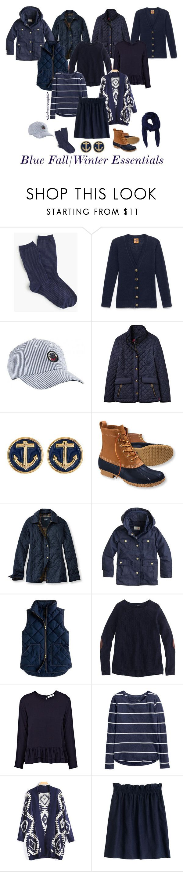 """Preppy fall/winter essentials!!!"" by thedancersophie ❤ liked on Polyvore featuring J.Crew, Tory Burch, Joules, L.L.Bean, Rodebjer, H&M, Alexander McQueen and stopcopyingpreps"