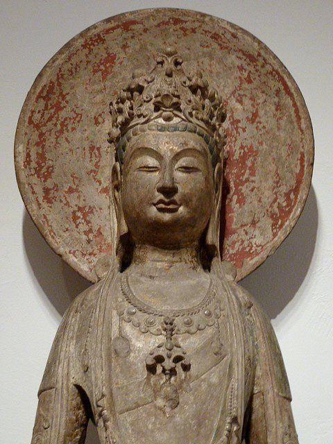 Standing Bodhisattva Avalokiteshvara (Guanyin Pusa) with Circular Halo, 581 - 618. Chinese, 6th-7th centuries, Sui dynasty, 581-618. Harvard Art Museums/Arthur M. Sackler Museum.